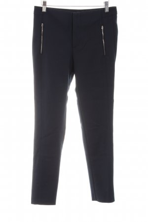 Zara Basic Drainpipe Trousers blue business style