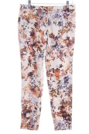Zara Basic Röhrenhose Blumenmuster Casual-Look