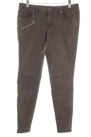 Zara Basic Pantalon cigarette ocre style décontracté