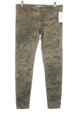 Zara Basic Röhrenhose olivgrün-dunkelgrün Camouflagemuster Military-Look