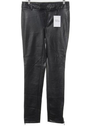 Zara Basic Röhrenhose schwarz Biker-Look