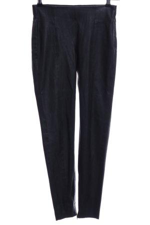 Zara Basic Pantalone a sigaretta nero Stile ciclista