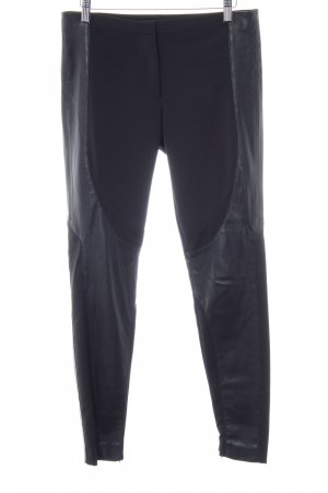 Zara Basic Drainpipe Trousers black street-fashion look