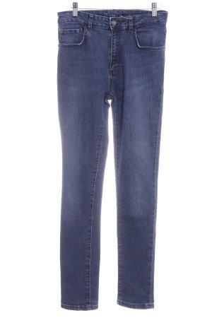 Zara Basic Vaquero pitillo azul oscuro-gris pizarra look casual