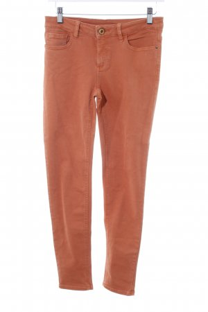 Zara Basic Röhrenjeans orange Casual-Look