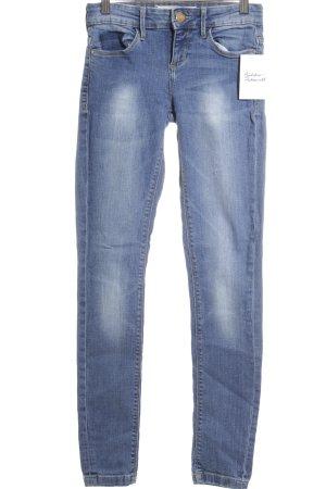 Zara Basic Röhrenjeans stahlblau Jeans-Optik
