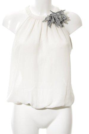 Zara Basic Rüschentop weiß-hellgrau Elegant