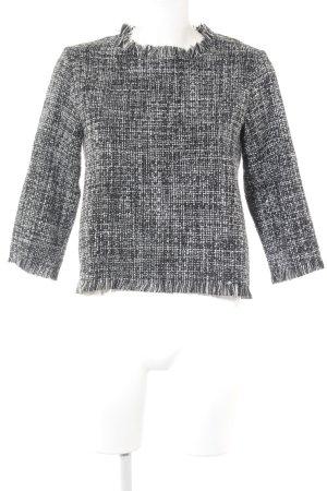 Zara Basic Rundhalspullover abstraktes Muster Casual-Look
