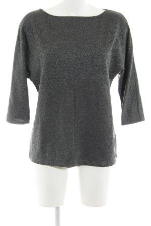 Zara Basic Rundhalspullover grau-silberfarben Casual-Look