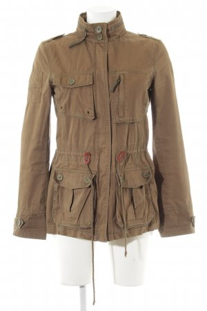 Zara Basic Safari Jacket olive green safari look