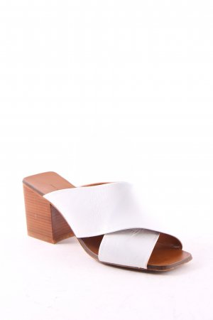 Zara Basic High-Heeled Sandals white-brown casual look