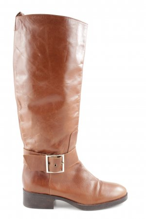 Zara Basic Stivale militare marrone elegante