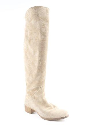 Zara Basic Jackboots beige street-fashion look