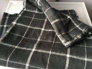 Zara Basic Schal in Karo schwarz/weiß