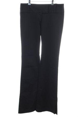 Zara Basic Broek met wijd uitlopende pijpen zwart zakelijke stijl