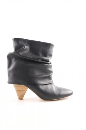 Zara Basic Schlüpf-Stiefeletten schwarz Casual-Look