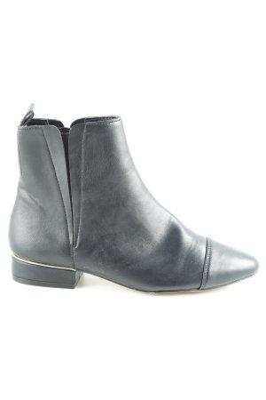 Zara Basic Schlüpf-Stiefeletten schwarz