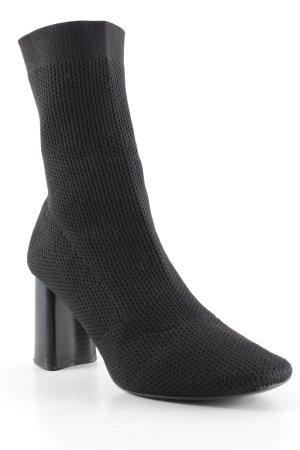 Zara Basic Schlüpf-Stiefeletten schwarz Elegant