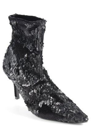 Zara Basic Botas deslizantes negro estilo extravagante 6d6e7a1cb25