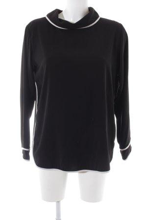 Zara Basic Schlupf-Bluse schwarz-weiß Business-Look