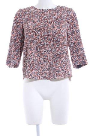 Zara Basic Schlupf-Bluse Allover-Druck extravaganter Stil