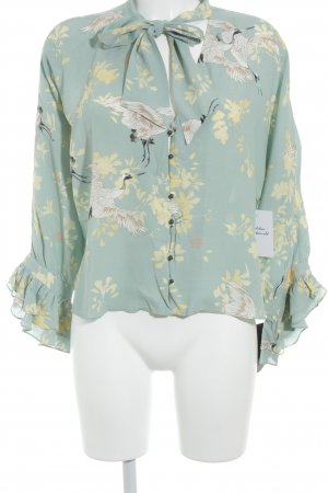 Zara Basic Schlupf-Bluse Animalmuster Beach-Look