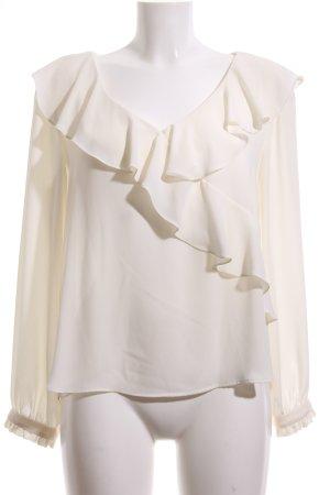 Zara Basic Schlupf-Bluse wollweiß Elegant