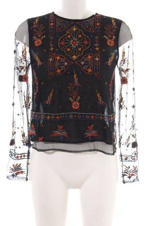 Zara Basic Schlupf-Bluse Blumenmuster Elegant