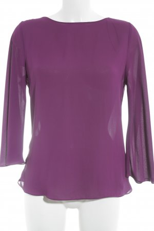 Zara Basic Schlupf-Bluse purpur klassischer Stil