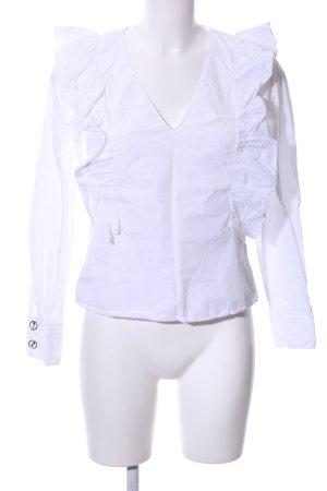 Zara Basic Blusa caída blanco estilo «business»