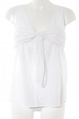 Zara Basic Schluppen-Bluse creme Business-Look