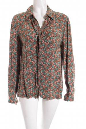 Zara Basic Tie-neck Blouse floral pattern casual look