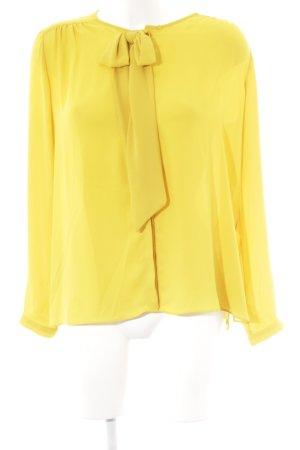 Zara Basic Schluppen-Bluse goldorange Elegant