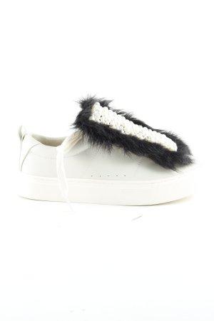 Zara Basic Schnürsneaker weiß-schwarz extravaganter Stil