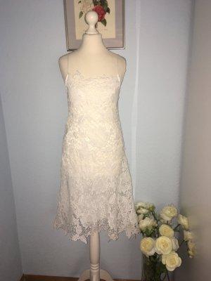 Zara Basic Kanten jurk wit