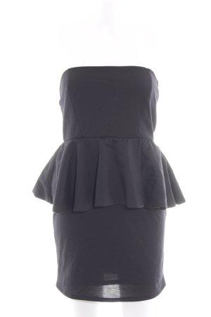 Zara Basic Schößchentop schwarz Elegant