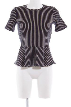 Zara Basic Schößchentop Streifenmuster Casual-Look
