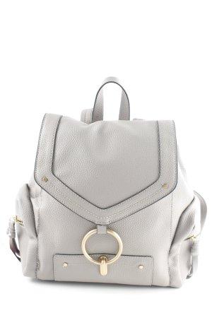 Zara Basic Schulrucksack hellgrau-schwarz schlichter Stil