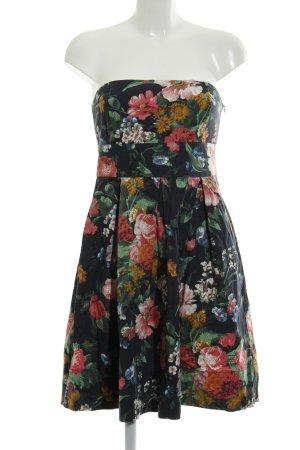 Zara Basic schulterfreies Kleid Blumenmuster Casual-Look