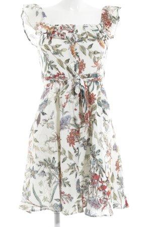 Zara Basic schulterfreies Kleid Blumenmuster Elegant