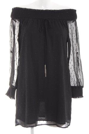 Zara Basic Off the shoulder jurk zwart elegant