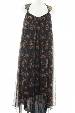 Zara Basic schulterfreies Kleid florales Muster Gypsy-Look