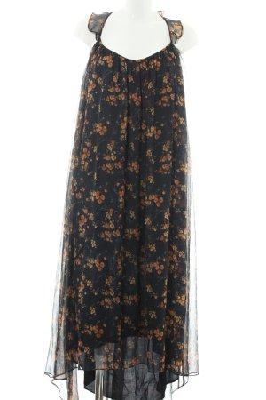 Zara Basic schulterfreies Kleid florales Muster Gypsy-Look