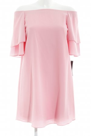 Zara Basic schulterfreies Kleid rosa Romantik-Look