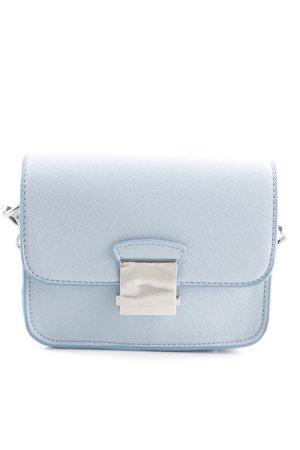 Zara Basic Schultertasche blau Casual-Look