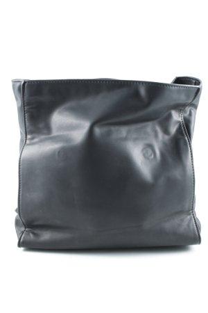 Zara Basic Schultertasche schwarz Retro-Look