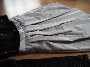 ZARA Basic - sehr schöner Taillenrock in silber - nur einmal getragen!