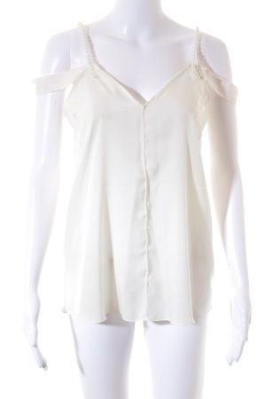 Zara Basic Seidenbluse wollweiß Elegant
