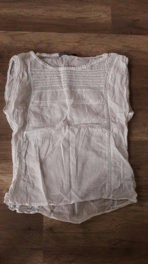 Zara Basic Shirt Bluse Blusenshirt Spitze Blusentop M