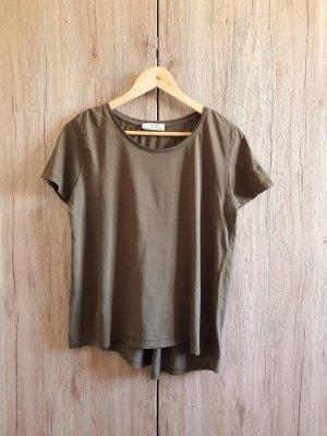 Zara Camiseta caqui-verde oliva